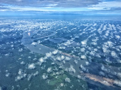 The Rio Madeira, with her headwaters in the Bolivian snowfields, is the longest tributary of the Amazon. It is amazing to overfly the transect from Manaus to the upper Rio Tapajós.