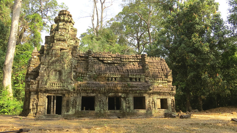The wood storage house at Preah Khan by guide Phil Gregory