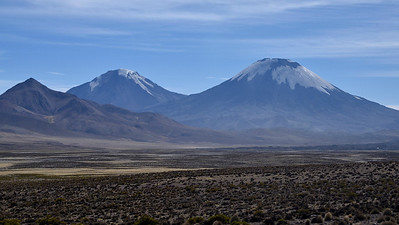 Parinacota and Pomerape in the Lauca landscape, by participant Daphne Gemmill.