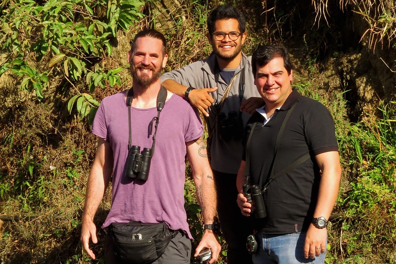 Guides Jesse Fagan and Marcelo Padua with local guide Diego Cueva
