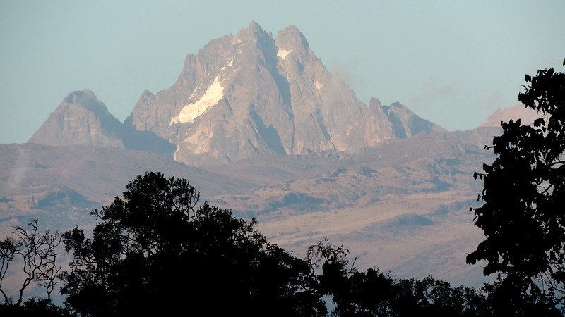 Mt. Kenya at dawn, photographed by guide Terry Stevenson