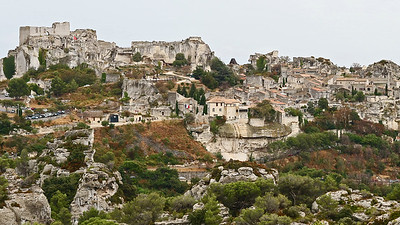 The spectacular setting of Les Baux de Provence, by participant Charlotte Byers