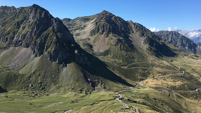 View from Col du Tourmalet on the Tour de France route, by guide Megan Edwards Crewe