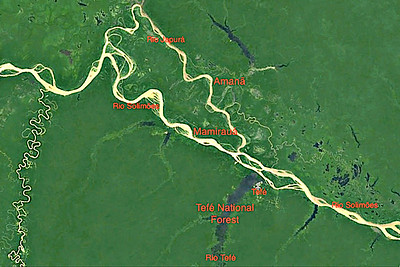 Some of the main rivers and destinations on our route