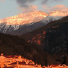 Looking from Litochoro up to Mount Olympus; by guide Megan Edwards Crewe