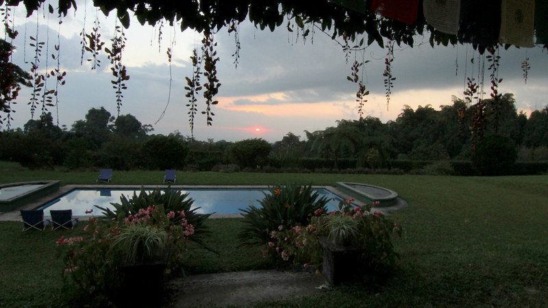 Sunset at Finca Los Andes: a beautiful and relaxing way to end the birding day. Photo by participant Mary Lou Barritt.