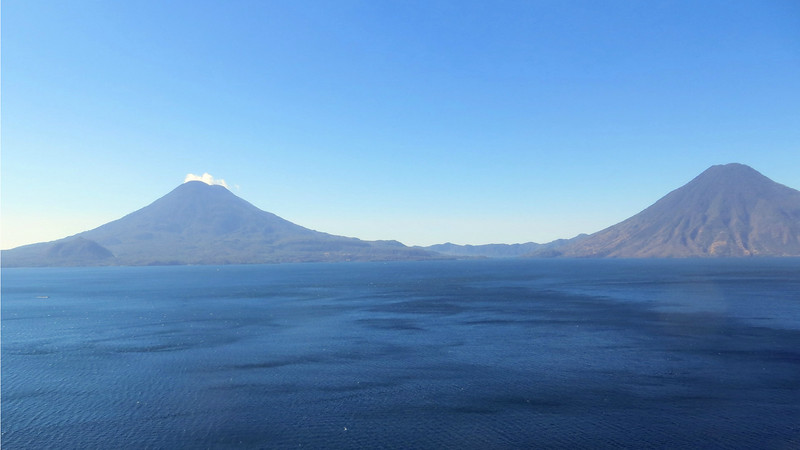 Our first image in this gallery from our 2016 tour: expansive Lake Atitlan and Guatemala's classic volcanoes. Photo by participant Mary Lou Barritt.