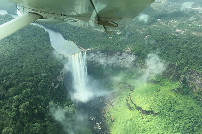 Spectacular Kaieteur Falls on our approach, by guide Megan Edwards Crewe