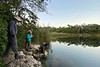 Birding the cenotes by guide Chris Benesh