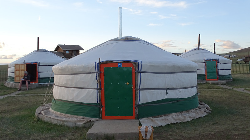 Part of the Khustai ger camp, by guide Phil Gregory.