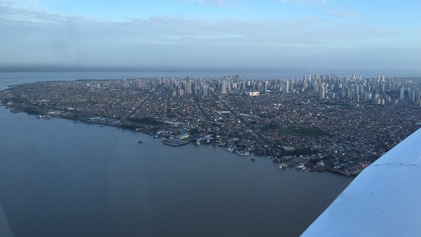 The city of Belem as seen from the air, by guide Dave Stejskal.