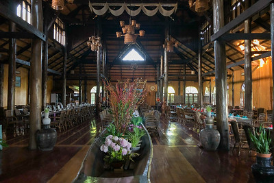 Hu Pin Resort dining room, by guide Doug Gochfeld