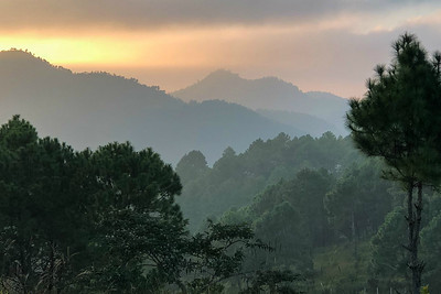 Sunset near Kalaw in central Myanmar, by guide Doug Gochfeld