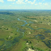 The Okavango Delta from the air, by guide Terry Stevenson.