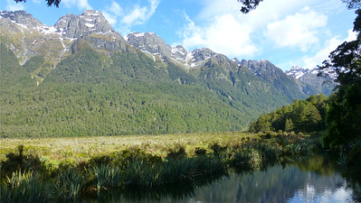 Beautiful mountains and lakes: classic Fiordland by participant Cathy Pasterczyk.