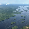 This is a view downriver of the remote upper Rio Negro near Sao Gabriel da Cachoeira a moment after lifting off from the airport there! Photo by guide Bret Whitney.
