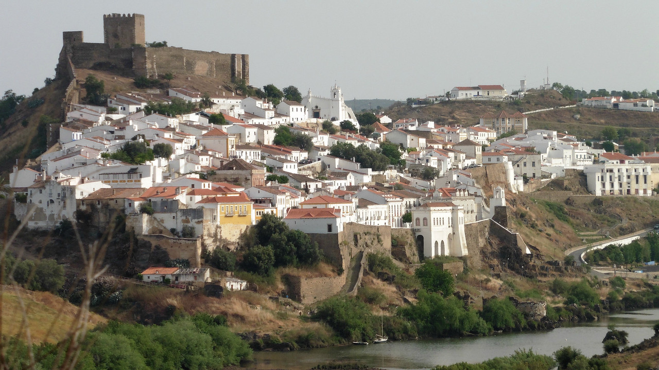 The picturesque town of Mértola in southeastern Portugal, by Peggy Watson