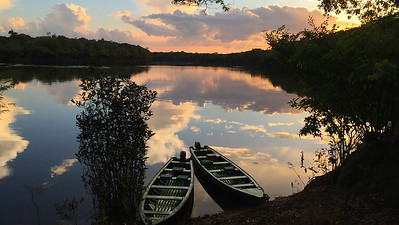 Jau National Park at sunset, by guide Bret Whitney.