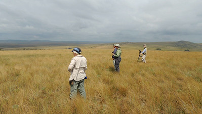 Watching for pipits in Canastra on the extension, by participant Peter Bono