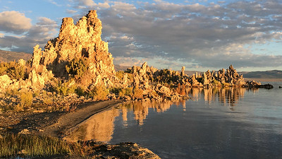 Tufa towers at Mono Lake, one scenic stop on our route, by guide Chris Benesh