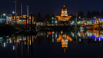 Washington State Capitol Building from Marina