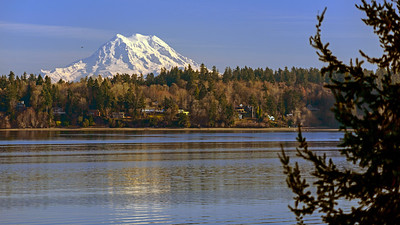 Mount Rainier from Olympia, Washington