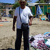Beach saleman where we bought some clothes
