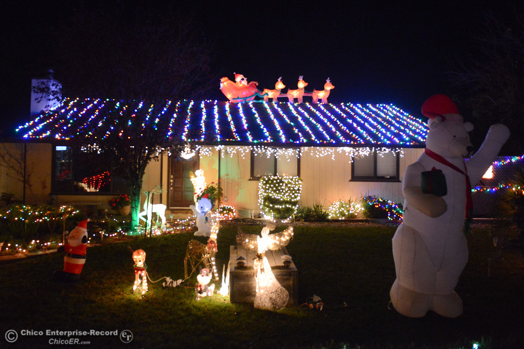. John and Debbie Riley have been decorating their home on 1360 Tehama Avenue for over 10 years and each year it gets bigger and bigger; a must see on this year\'s Oroville Tour of Lights Thursday December 7, 2017 in Oroville, California. (Emily Bertolino -- Mercury Register)