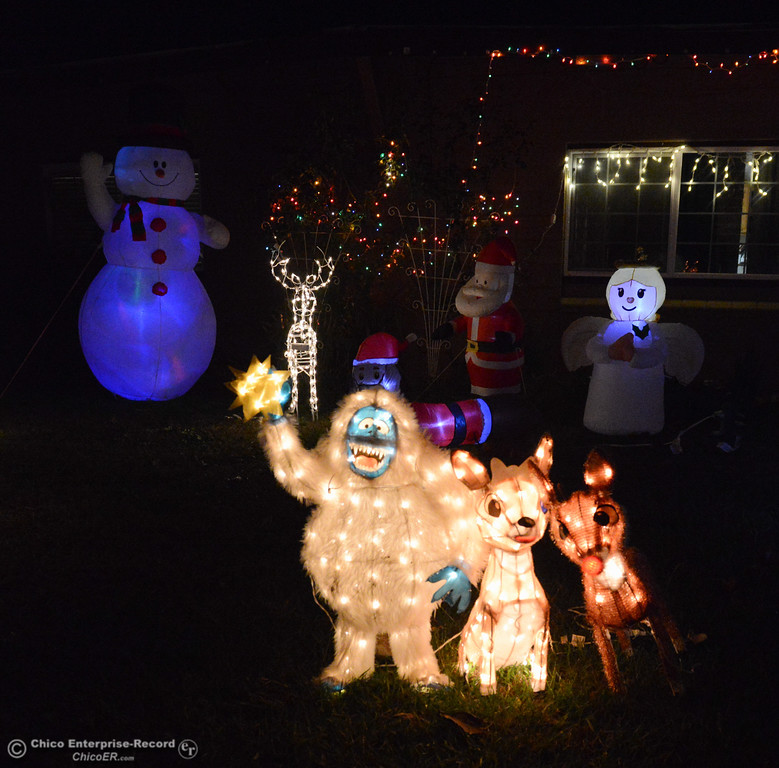 . An homage to Christmas\'s favorite characters decorate this lawn at 885 Yuba Avenue a nice stop on this year\'s Oroville Tour of Lights Thursday December 7, 2017 in Oroville, California. (Emily Bertolino -- Mercury Register)
