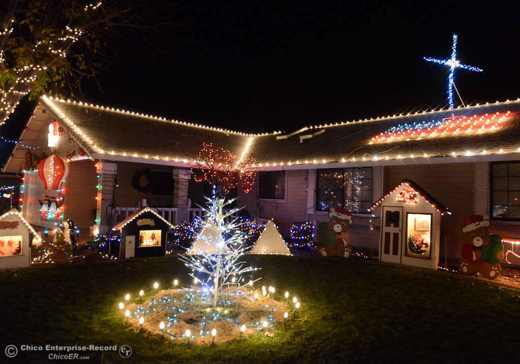 . The Tiffanys have set up their holiday home with the decorations from the infamous Chico\'s Mr. Christmas family, Don and Jackie Corrie for this years Chico Tour of Lights December 5, 2017 along Cimarron Drive in Chico, California. (Emily Bertolino -- Enterprise-Record)