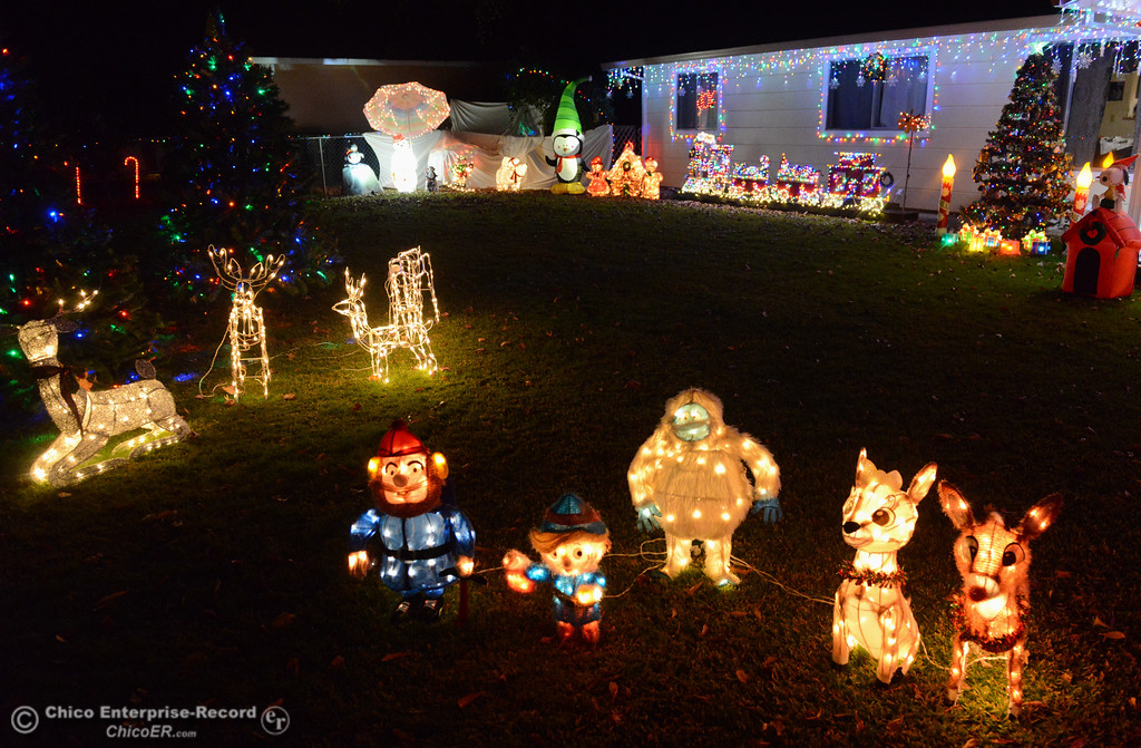 . Tina Beers has been decorating her home at 115 Grand Ave for over 20 years a must see on this year\'s Oroville Tour of Lights Thursday December 7, 2017 in Oroville, California. (Emily Bertolino -- Mercury Register)