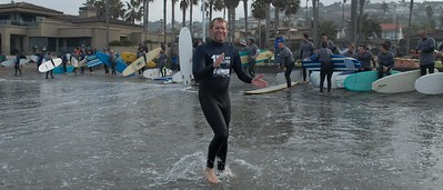 San Diego Century Club supporting Boys to Men Mentoring through the One Wave Challenge 1/23/2016 at La Jolla Shores