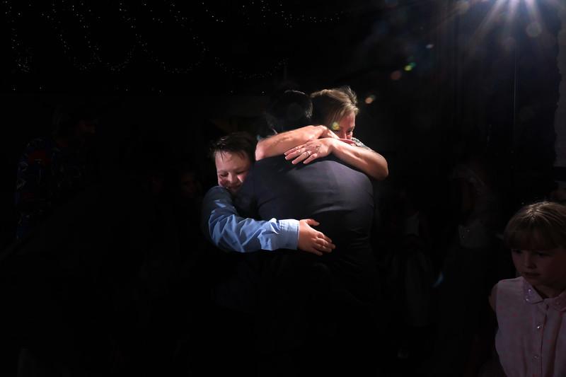 first dance family hug