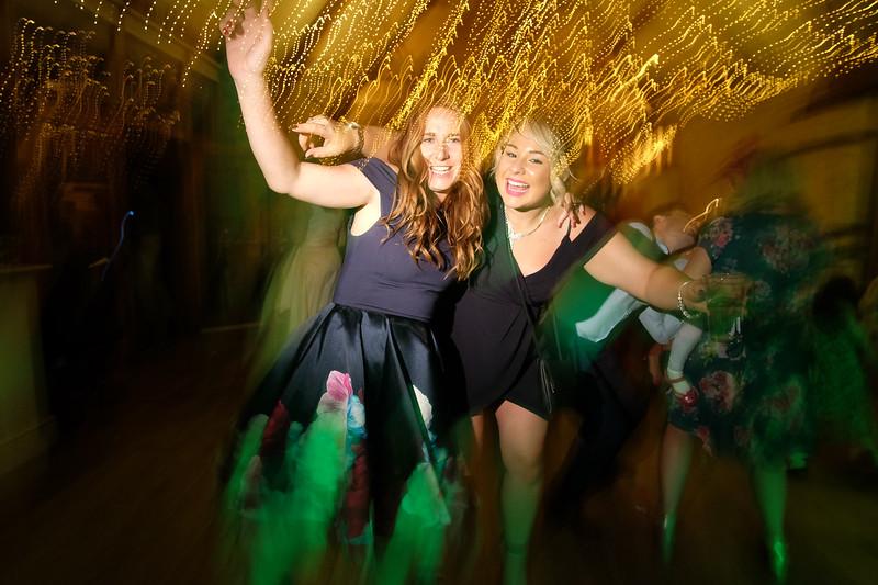 illuminated on the dancefloor