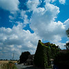 billowing clouds above the compass inn near badminton. The field next door to the hotel was billowing with butterflies ,lots of whom arrived in the conservatory for the wedding!