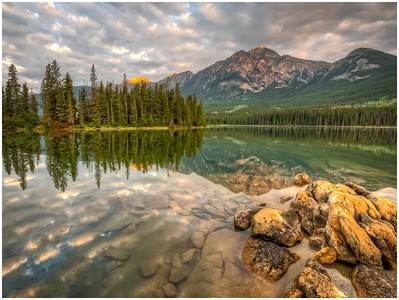 Pyramid Lake Sunrise - Jasper, Alberta
