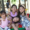 Alice and Leah with cousins Abby and Mia at Legoland California