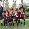 Leah's team, the Fire Dragons, wins first place at the recreational league championship game, May 19, 2018.