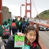 Girl Scout Bridging ceremony at the Golden Gate Bridge, San Francisco, CA