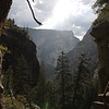 On the mist trail at Yosemite.