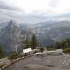 Leah enjoying Glacier Point at Yosemite