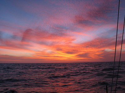 Sunsets between East Cape and Great Barrier Island