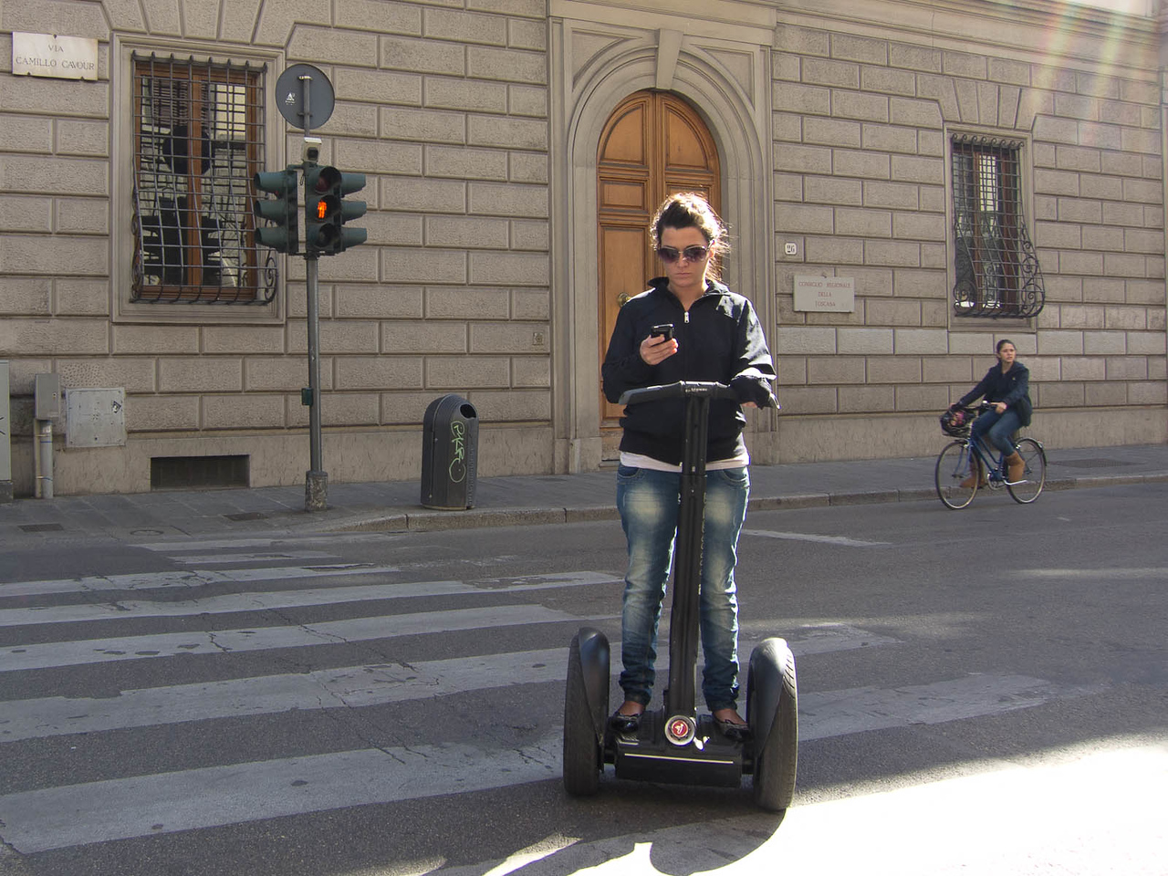 Texting while Segwaying through Florence