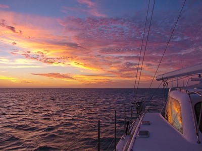 Sunset from the anchorage at Ilot Maitre