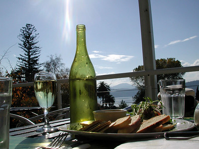 Jul, 2001: Lunch at Royal Botanical Gardens Hobart. Smoked Bruny Island salmon pate for starters!