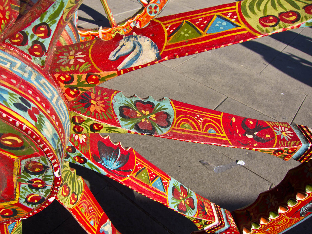 Hand painted festival wagon
