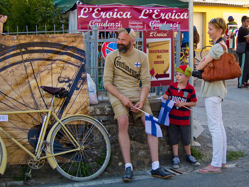 Bicyclists from all over Europe took part. This one was from Sweden.