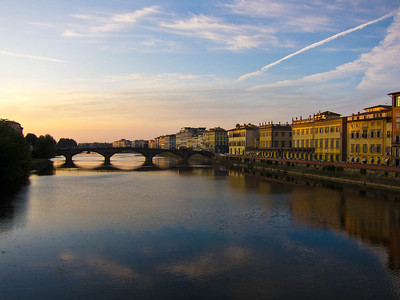 Arno River at sunset