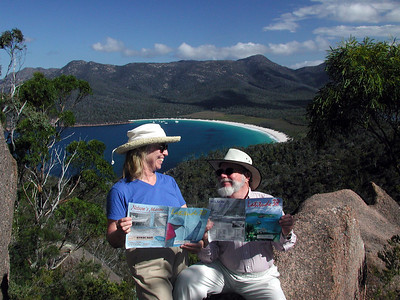 Jan, 2002: Wineglass Bay, Tasmania with Latitude 38s.