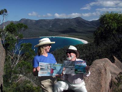 Jan, 2002: Wineglass Bay, Tasmania with Latitude 38s.